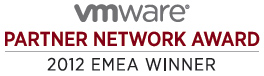 VMware Partner Network Award - 2012 EMEA Winner